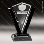 Crystal Black Accented Conquest Trophy Award Crystal-D Series Crystal Trophy Awards