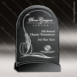 Crystal Black Accented Cavalcade Arch Trophy Award Crystal-D Series Crystal Trophy Awards