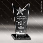 Crystal Black Accented Mirage Trophy Award Crystal-D Series Crystal Trophy Awards