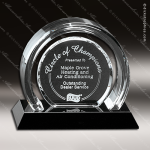 Crystal Black Accented Halo Trophy Award Crystal-D Series Crystal Trophy Awards