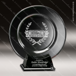 Crystal Black Accented Astoria Plate Trophy Award Crystal-D Series Crystal Trophy Awards