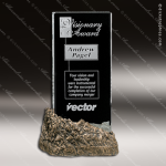 Crystal Stone Accented Summit Stone Trophy Award Crystal-D Series Crystal Trophy Awards