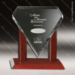 Crystal Rosewood Accented Marquise Trophy Award Crystal-D Series Crystal Trophy Awards