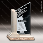 Crystal Stone Accented Corinthian Column Trophy Award Crystal-D Series Crystal Trophy Awards