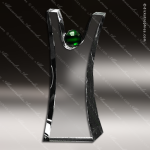 Crystal Green Accented Triumphant Crystal Trophy Award Crystal-D Series Crystal Trophy Awards