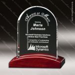 Crystal Rosewood Accented Parkdale Arch Crystal-D Series Crystal Trophy Awards