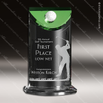 Crystal Green Accented Birdie Trophy Award Crystal-D Series Crystal Trophy Awards