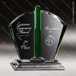 Crystal Green Accented Fandango Crystal Trophy Award Crystal-D Series Crystal Trophy Awards