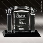 Crystal Black Accented Portico Trophy Award Crystal-D Series Crystal Trophy Awards