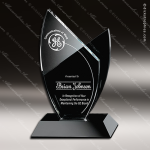 Crystal Black Accented Tuxedo Newport Trophy Award Crystal-D Series Crystal Trophy Awards