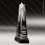 Crystal Black Accented Pulsar Star Crystal Trophy Award Crystal-D Series Crystal Trophy Awards