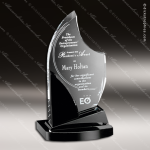 Crystal Black Accented Panache Trophy Award Crystal-D Series Crystal Trophy Awards