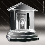 Crystal Clear Georgetown Trophy Award Crystal-D Series Crystal Trophy Awards