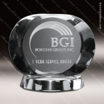 Crystal Clear Harmony Oval Trophy Award Crystal-D Series Crystal Trophy Awards