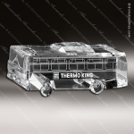 Crystal Clear Coach Bus Trophy Award Crystal-D Series Crystal Trophy Awards
