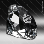 Crystal Clear Diamond Paperweight Trophy Award Crystal-D Series Crystal Trophy Awards