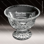 Crystal Clear Durham Footed Trophy Bowl Award Crystal-D Series Crystal Trophy Awards