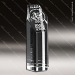 Crystal Clear Citadel Trophy Award Crystal-D Series Crystal Trophy Awards