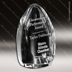 Crystal Clear Clipped Oval Crystal Trophy Award Crystal-D Series Crystal Trophy Awards