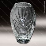 Crystal Clear Durham Barrel Vase Trophy Award Crystal-D Series Crystal Trophy Awards