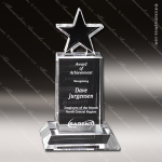Crystal Clear Champion Pedestal Star Trophy Award Crystal-D Series Crystal Trophy Awards