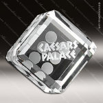 Crystal Clear Take a Chance Die Dice Trophy Award Crystal-D Series Crystal Trophy Awards