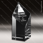 Crystal Clear Trinity Trophy Award Crystal-D Series Crystal Trophy Awards