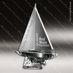 Crystal Clear Spinnaker Trophy Award Crystal-D Series Crystal Trophy Awards