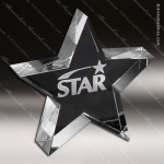 Crystal Clear Tapered Star Trophy Award Crystal-D Series Crystal Trophy Awards