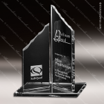 Crystal Clear Twin Summits Trophy Award Crystal-D Series Crystal Trophy Awards