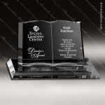 Crystal Clear Open Bible Book Trophy Award Crystal-D Series Crystal Trophy Awards