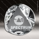 Crystal Clear Pyramid Prism Trophy Award Crystal-D Series Crystal Trophy Awards