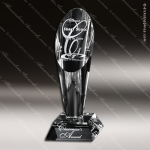Crystal Clear Performer Trophy Award Crystal-D Series Crystal Trophy Awards