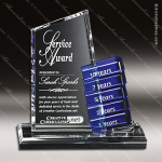 Crystal Blue Accented Glendale Goal-Setter Trophy Award Crystal-D Series Crystal Trophy Awards