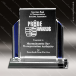 Crystal Blue Accented Heritage Trophy Award Crystal-D Series Crystal Trophy Awards
