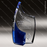 Crystal Blue Accented Allure Trophy Award Crystal-D Series Crystal Trophy Awards
