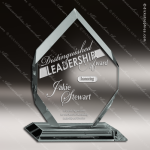 Crenshaw Regal Glass Jade Accented Arrowhead Diamond Trophy Award. Crystal-D Series Crystal Trophy Awards