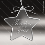 Personalized Etched Glass Star Christmas Ornament Crystal & Glass Ornaments