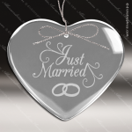 Personalized Etched Glass Heart Christmas Ornament Crystal & Glass Ornaments