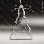 Personalized Etched Crystal Tree Christmas Ornament Crystal & Glass Ornaments