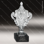 Crystal Black Accented Cup Vase Trophy Award Crystal Series Cup Trophy Awards