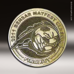 Custom Spin Cast Challenge Coins or Emblems Custom Coins / Emblems