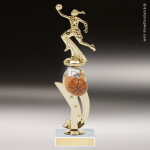 Trophy Builder - Basketball Riser - Example 1 Customize Your Own Riser Trophies