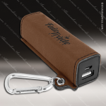 Embossed Etched Leather 2200mAh Power Bank -Dark Brown Dark Brown Leather Items