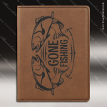 Embossed Etched Leather Passport Holder Dark Brown Gift Dark Brown Leather Items