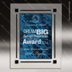 Engraved Acrylic Plaque Blue Marble Wall Placard Award Designer Acrylic Plaques