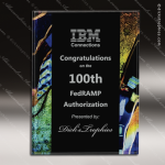 Engraved Acrylic Plaque Black Artistic Blue Wall Placard Award Designer Acrylic Plaques