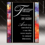 Acrylic Multi-Colored Accented Acrylic Art Plaque Watercolor Trophy Award Designer Acrylic Plaques
