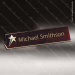Desk Gift Engraved  Rosewood Name Plate Desk Wedge With Star Desk Name Plate Wedges