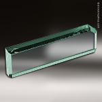 Desk Gift Glass Jade Accented Nameplate Wedge Desk Wedge Name Plates